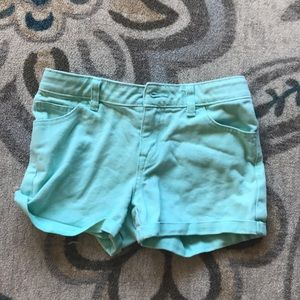 Cute Teal, perrywinkle and pink shorts